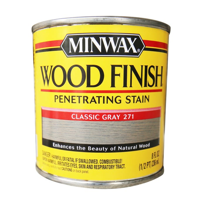 Minwax Wood Finish, Classic Gray #271, 1/2 Pint