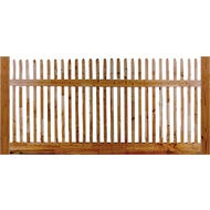 """Mt. Vernon"", Square Cedar Picket Fence, Section, 4 ft. x 8 ft."