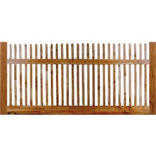 Square Cedar Picket Fence, Mt. Vernon, 4' x 8' Section