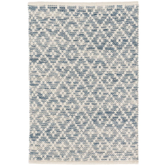 Dash & Albert Melange Diamond  Woven Cotton Rug