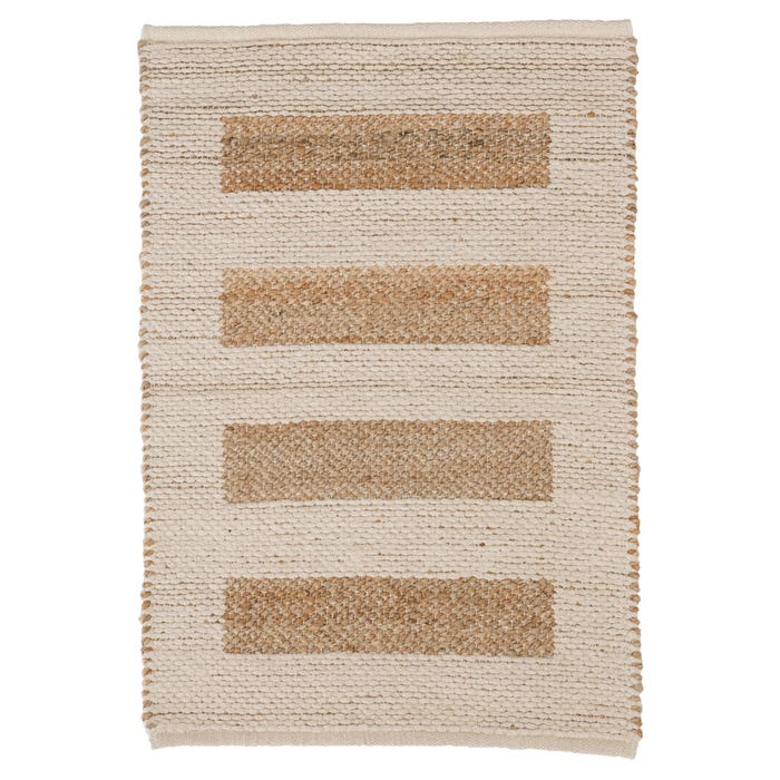 Dash & Albert Milo  Woven Jute/Cotton Rug