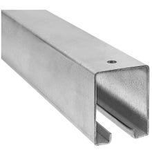 Image 2 of National Hardware N105-270 Box Rail, 1-57/64 in W, 2-13/32 in H, Galvanized Steel