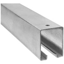 Image 2 of National Hardware N105-726 Box Rail, 1-57/64 in W, 2-13/32 in H, Galvanized Steel