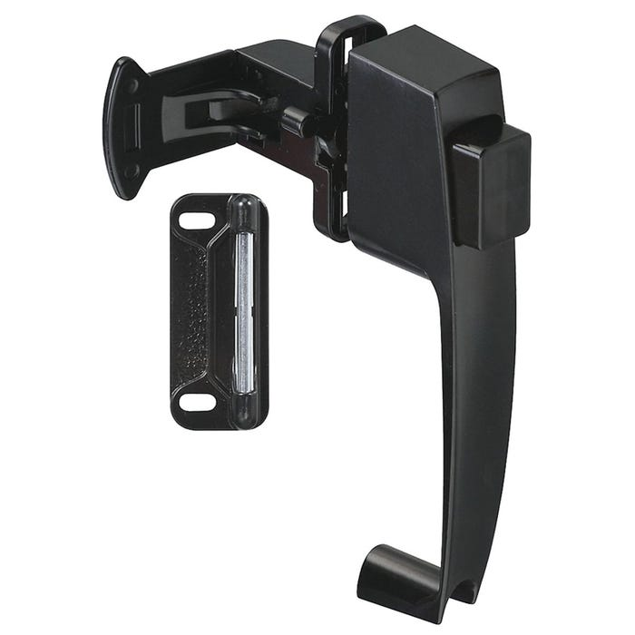 Image 1 of National Hardware V1316 Series N178-350 Pushbutton Latch, Zinc, For Wood/Metal Screen, Storm Doors