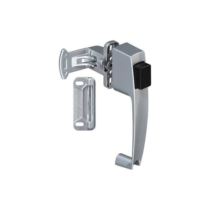 Image 1 of National Hardware V1316 Series N178-368 Pushbutton Latch, Zinc, For Wood/Metal Screen, Storm Doors