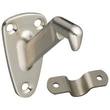 Image 2 of National Hardware N325-548 Handrail Bracket with Strap, 250 lb Weight Capacity, Zinc, Satin Nickel