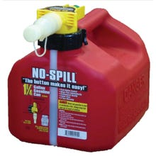 Image 2 of No-Spill 1415 Gas Can, 1.25 gal Capacity, Plastic, Red