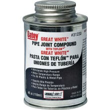 Image 1 of Oatey Great White 31230 Pipe Joint Compound, White, 4 oz Can