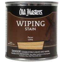 Image 1 of Old Masters Wiping Stain, Pecan, 1/2 Pint