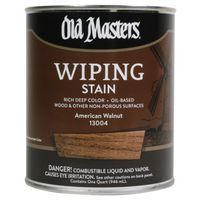 Image 1 of Old Masters Wiping Stain, American Walnut, 1/2 Pint