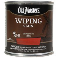 Image 1 of Old Masters Wiping Stain, Crimson Fire, Quart