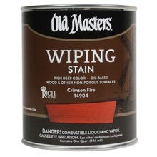 Image 1 of Old Masters Wiping Stain, Crimson Fire, 1/2 Pint