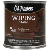 Image 1 of Old Masters Wiping Stain, Rich Mahogany, Quart