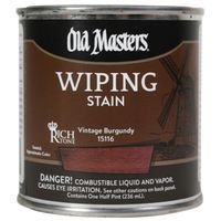 Image 1 of Old Masters Wiping Stain, Vintage Burgundy Quart