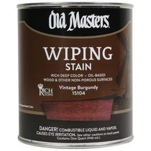 Image 1 of Old Masters Wiping Stain, Vintage Burgundy, 1/2 Pint