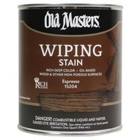 Image 1 of Old Masters Wiping Stain, Espresso, 1/2 Pint