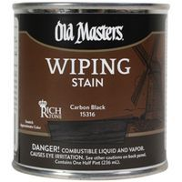 Image 1 of Old Masters Wiping Stain, Carbon Black, 1/2 Pint