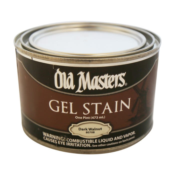 OLD MASTERS GEL STAIN,Dark Walnut, PINT