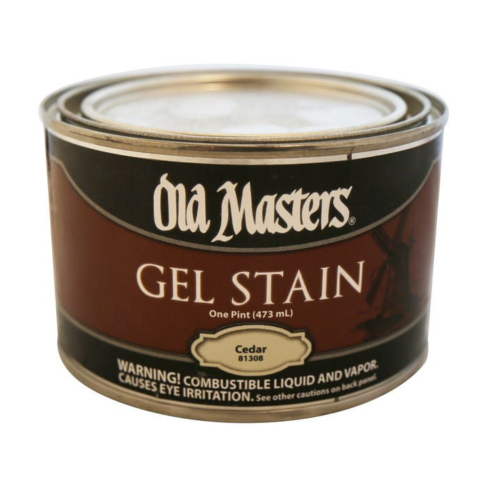 OLD MASTERS GEL STAIN,Cedar, PINT