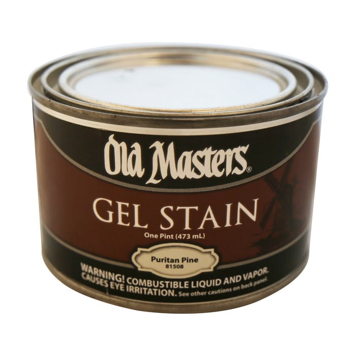 OLD MASTERS GEL STAIN,Puritan Pine, PINT , 81508