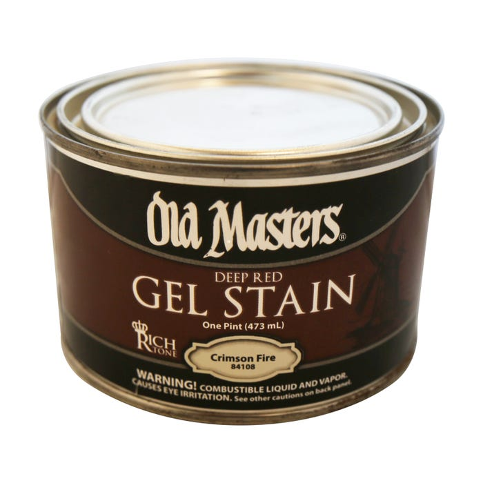 OLD MASTERS GEL STAIN,Crimson Fire, PINT