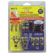 Image 1 of OOK 50918 Picture Hanging Kit, 5 to 100 lb Weight Capacity, Steel, Brass
