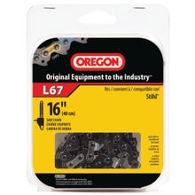 Image 2 of Oregon L67 Chainsaw Chain, 3/16 in File, 16 in L Bar, Steel