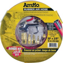 Image 2 of Amflo 552-50AK-5 Air Hose Kit, 3/8 in OD, MNPT, Rubber, Red