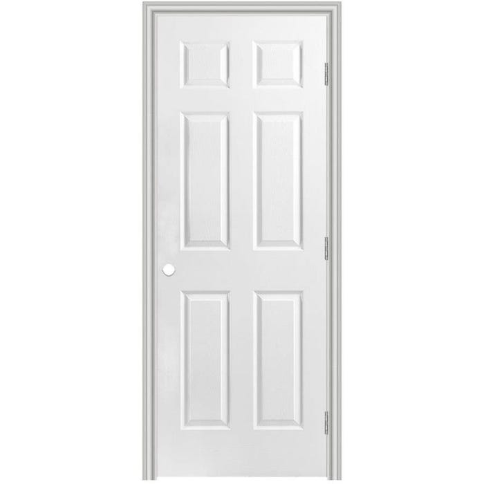 Solid Core Primed 6-Panel Smooth Molded Pre-Hung Door