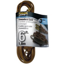 Image 2 of Powerzone OR670606 Extension Cord, 16 AWG, Brown Jacket, 6 ft L
