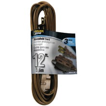 Image 2 of Powerzone OR670612 Extension Cord, 16 AWG, Brown Jacket, 12 ft L