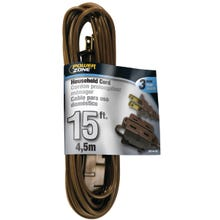 Image 2 of Powerzone OR670615 Extension Cord, 16 AWG, Brown Jacket, 15 ft L
