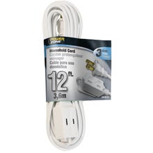 Image 2 of Powerzone OR660612 Extension Cord, 16 AWG, White Jacket, 12 ft L
