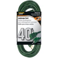 Image 1 of Powerzone OR880628 Extension Cord, 16 AWG, Green Jacket, 40 ft L