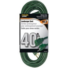 Image 2 of Powerzone OR880628 Extension Cord, 16 AWG, Green Jacket, 40 ft L