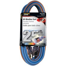 Image 2 of Powerzone ORC530725 Extension Cord, 14 AWG, Blue/Orange Jacket, 25 ft L