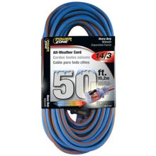 Image 2 of Powerzone ORC530730 Extension Cord, 14 AWG, Blue/Orange Jacket, 50 ft L