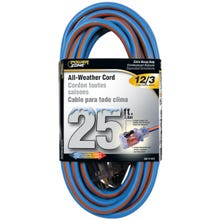 Image 1 of Powerzone ORC530825 Extension Cord, 12 AWG, Blue/Orange Jacket, 25 ft L