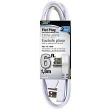 Image 2 of Powerzone OR930606 Extension Cord, 16 AWG, White Jacket, 6 ft L