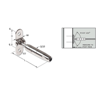 """Feeney Cable Rail 1/8"""" Quick-Connect Fixed Surface Mount"""