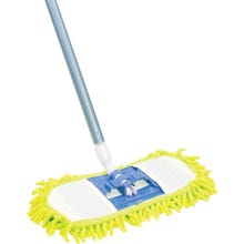 Image 2 of Quickie 060TRIRM-18 Dust Mop, Microfiber Head, Green