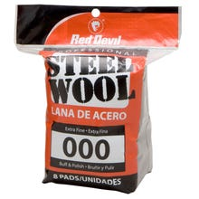 RED DEVIL STEEL WOOL 8PK, 000 EXTRA FINE