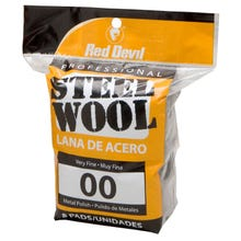 RED DEVIL STEEL WOOL 8PK, 00 VERY FINE