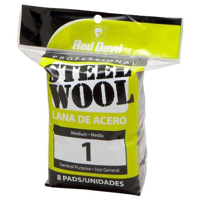 RED DEVIL STEEL WOOL 8PK, 1 MEDIUM