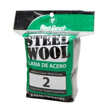 RED DEVIL STEEL WOOL 8PK, 2 MEDIUM COARSE