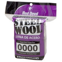 RED DEVIL STEEL WOOD 8PK, 0000 SUPER FINE