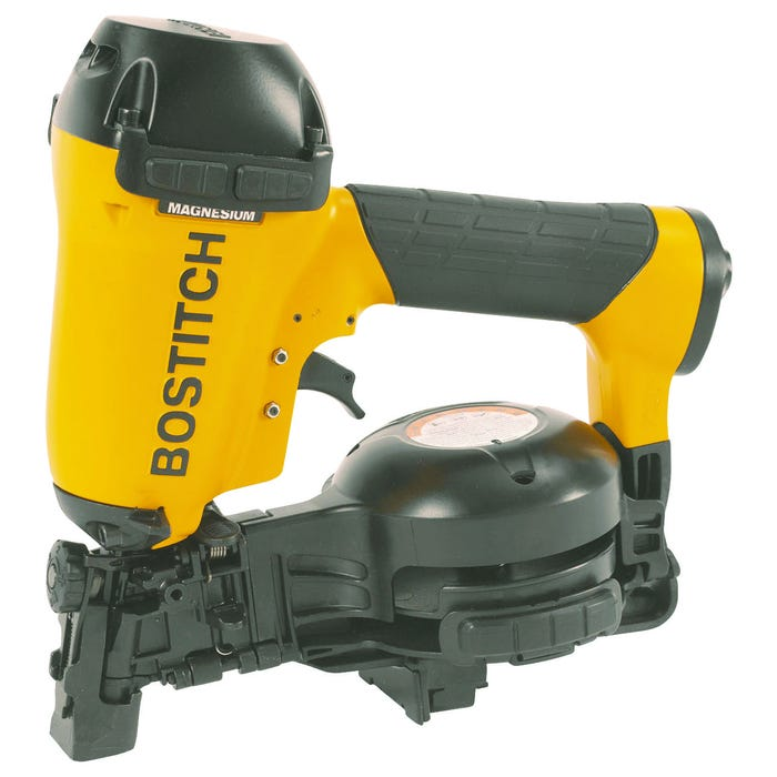 Image 2 of Bostitch RN46-1 Coil Roofing Nailer, 1/4 in Air Inlet, 120 Magazine, Nail Fastener