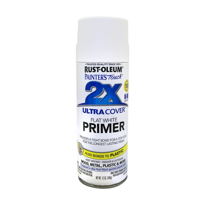Rust-Oleum Painter's Touch 2X, White Primer, Spray Paint 12 oz