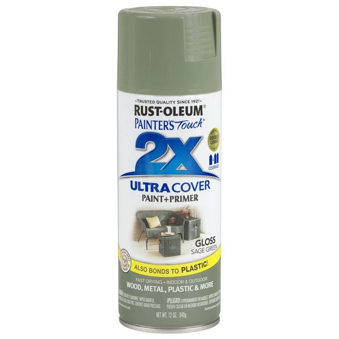 Rust-Oleum Painter's Touch 2X, Gloss Sage Green, Spray Paint 12 oz