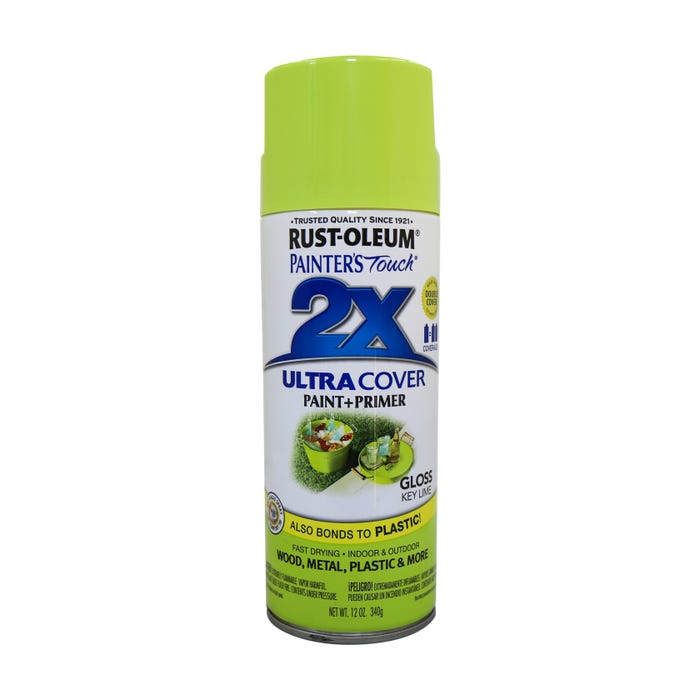 Rust-Oleum Painter's Touch 2X, Gloss Key Lime, Spray Paint 12 oz